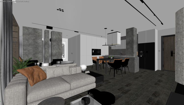 3D Interior Kitchen – Livingroom 200 Scene 3dsmax By Tran Nghia 1