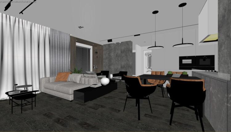 3D Interior Kitchen – Livingroom 200 Scene 3dsmax By Tran Nghia 3