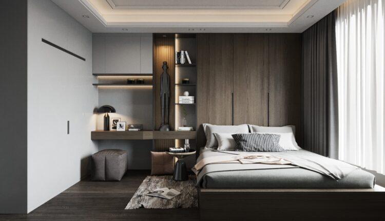 3D Interior Scenes File 3dsmax Model Bedroom 455 Free Download