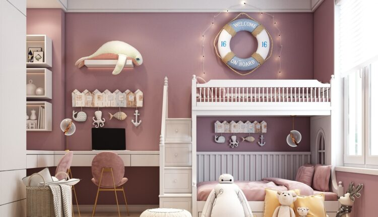 3D Model Interior Children Room 31 Free Download By HuyHieuLee