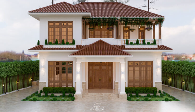3D Exterior Villa Scene File 3dsmax By Long Dinh Free Download 1