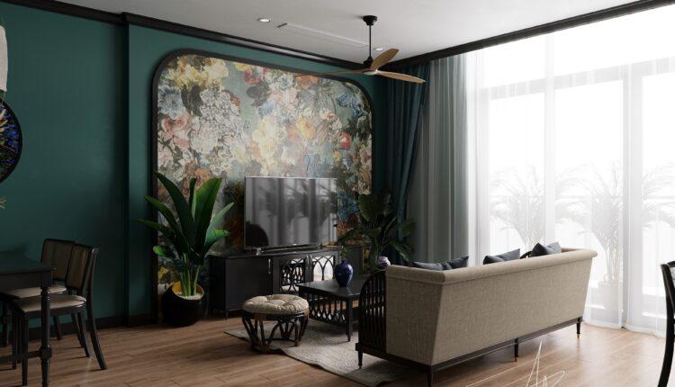 3D Interior Apartment Indochine 203 Scene File 3dsmax By Minh Tu 1.1