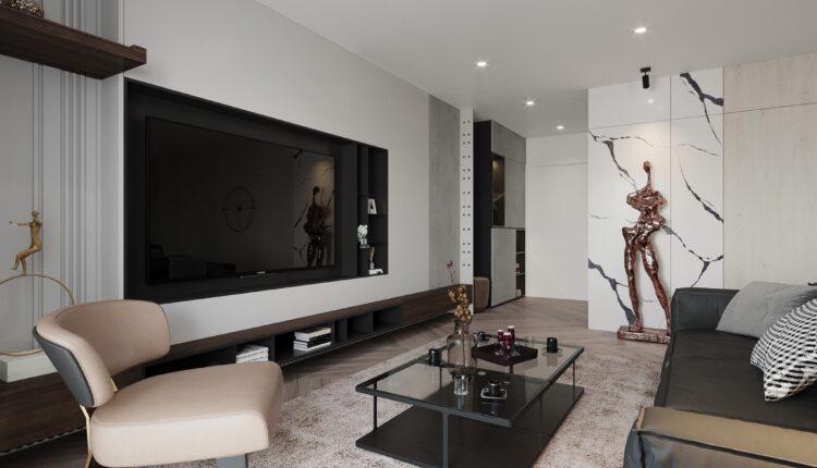 3D Interior Kitchen – Livingroom 208 Scene 3dsmax By Nguyen Ngoc Tung 2