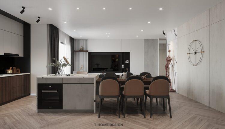 3D Interior Kitchen – Livingroom 208 Scene 3dsmax By Nguyen Ngoc Tung 3