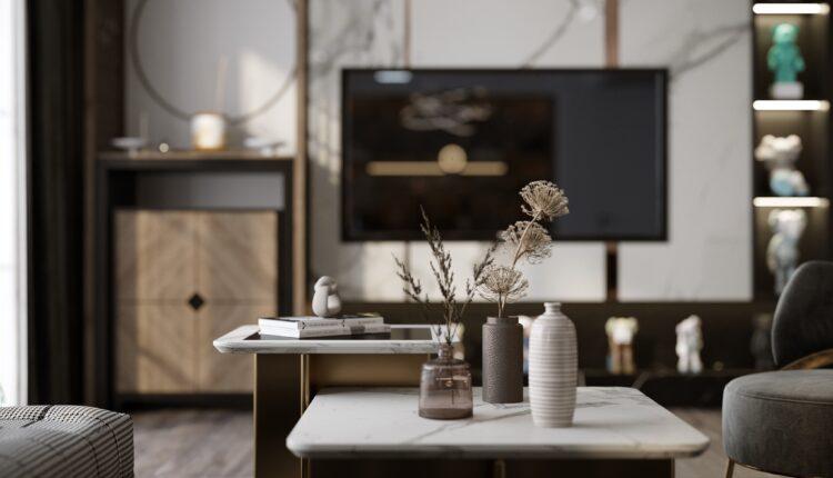 3D Interior Kitchen – Livingroom 209 Scene 3dsmax By Nguyen Thai Nguyen 7