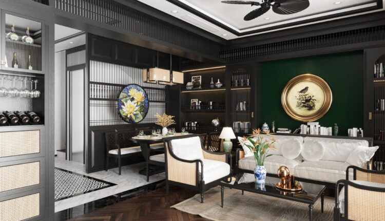 3D Interior House Indochine Scenes File 3dsmax Model By Bui Duc Hai 4