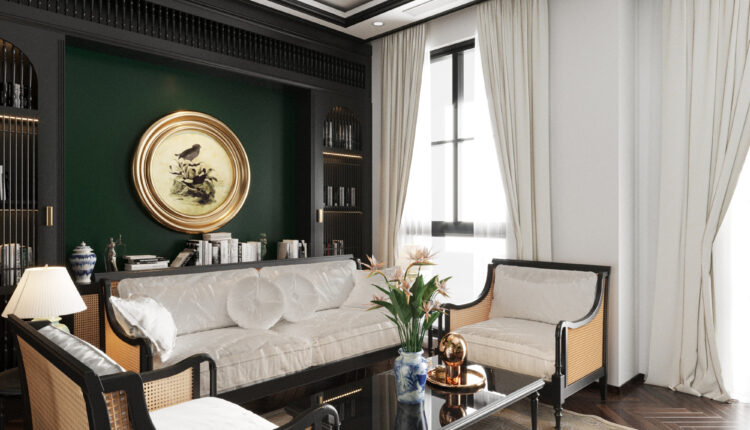 3D Interior House Indochine Scenes File 3dsmax Model By Bui Duc Hai 6