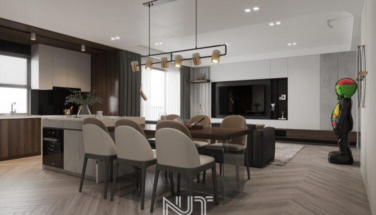 3D Interior Kitchen – Livingroom 229 Scene 3dsmax By Nguyen Ngoc Tung 2