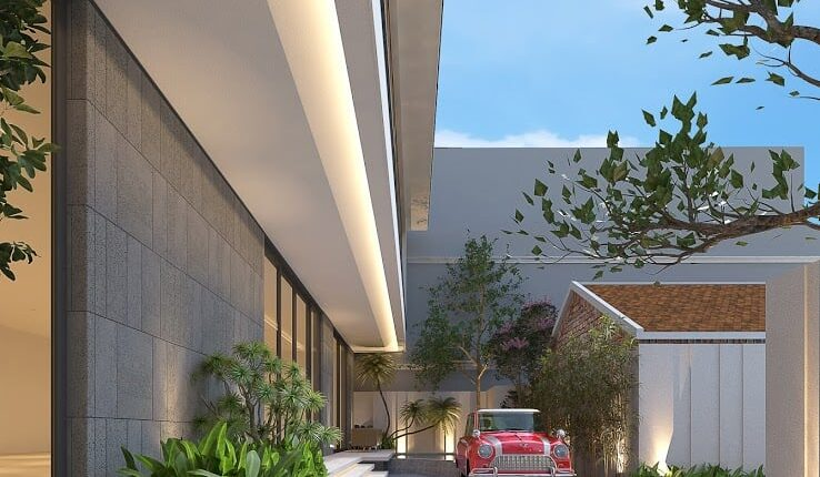 3D Exteriors House Scene Model 3dsmax Free Download By Luong Van Hai