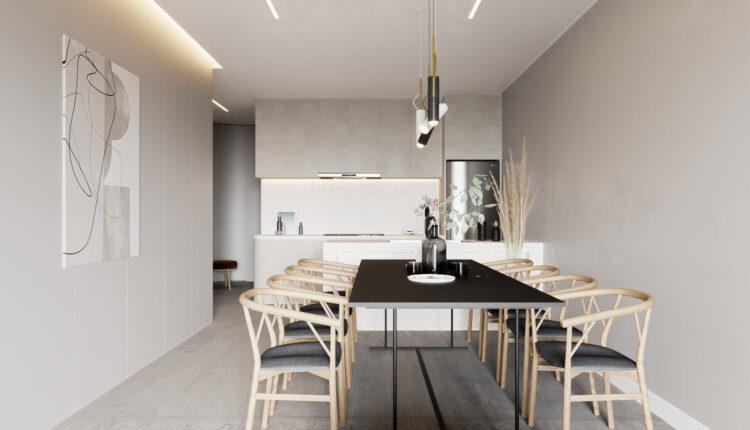 3D Interior Kitchen – Livingroom 253 Scene 3dsmax By Pham Minh Quang 3