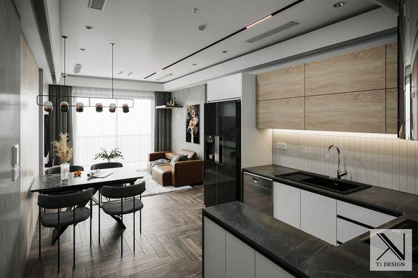 3D Interior Kitchen – Livingroom 254 Scene 3dsmax By Brian Vu 1