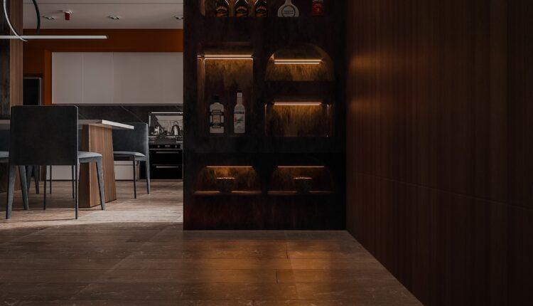 3D Interior Kitchen – Livingroom 261 Scene 3dsmax By Dung Chan 3
