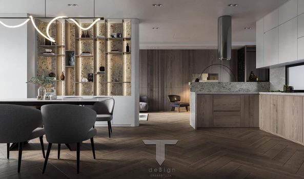 3D Interior Kitchen – Livingroom 262 Scene 3dsmax By Tho 7
