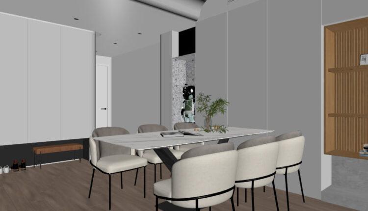 3D Interior Kitchen – Livingroom 267 Scene 3dsmax By Nguyen Ngoc Tung 4