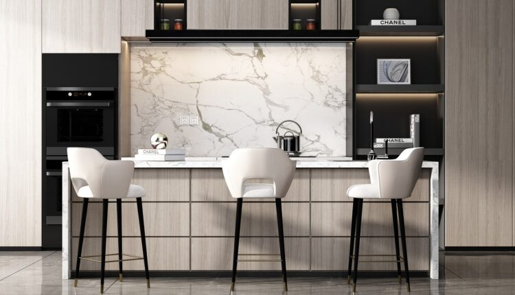3D Model Kitchen 229 Free Download By HuyHieuLe
