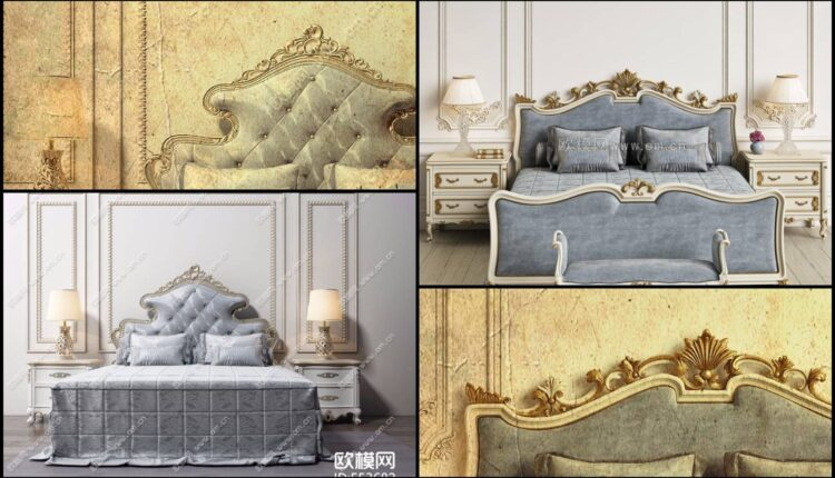 11044. 3D Neoclassical Bed Model For Free Download