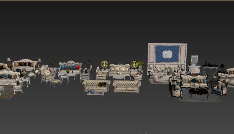 11079. Download Free 3D Neoclassical Sofa Models