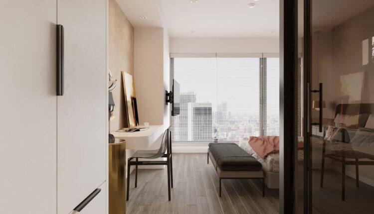 9589. Free 3D Interior Bedroom Model Download by Minh Tran