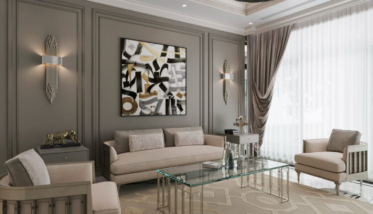 9591. 3D Interior Living room- kitchen Model Download by Duong Bui