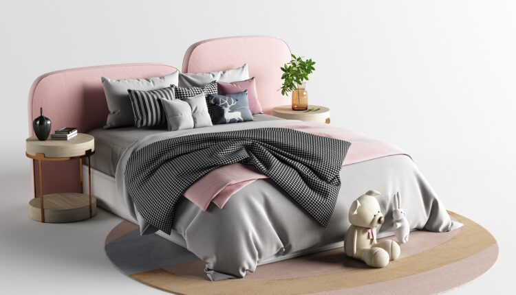 9601. 3D Bed Model For Free Download by Huy Hieu Lee