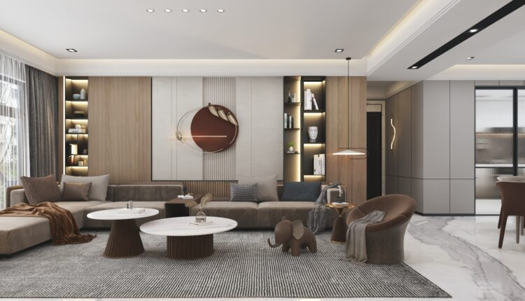 9602. 3D Interior Living room Model For Free Download by Huy Hieu Lee