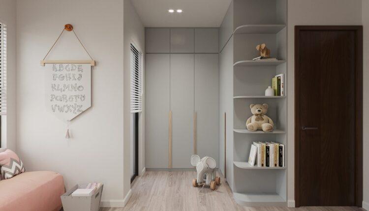 9614. 3D Interior Children room Model For Free Download