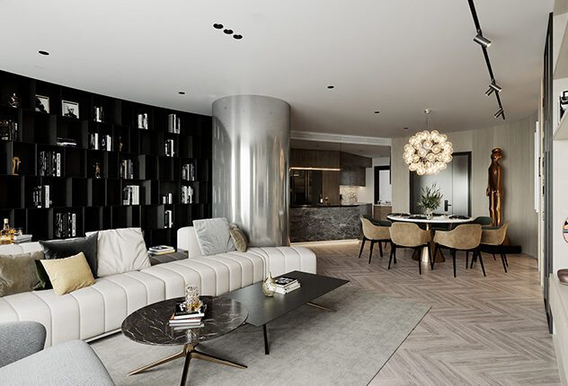 9617. 3D Interior Apartment Model Download by Tuan Anh Nguyen