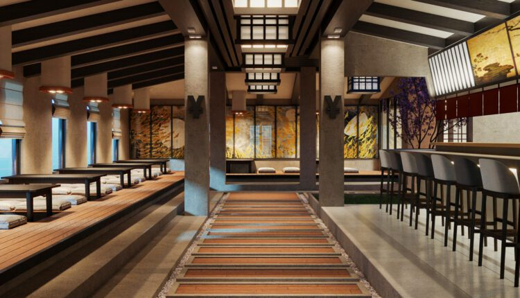 9697. 3D Interior Restaurant Model Download by Duy Le