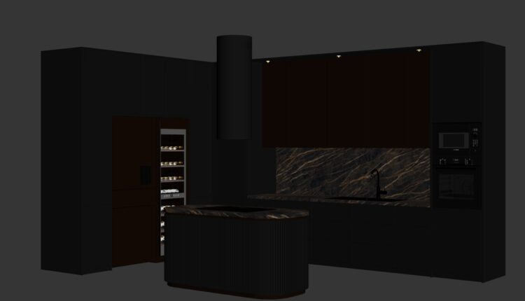 9703. Free 3D Kitchen Model Download by Do Huy Binh (7.3)