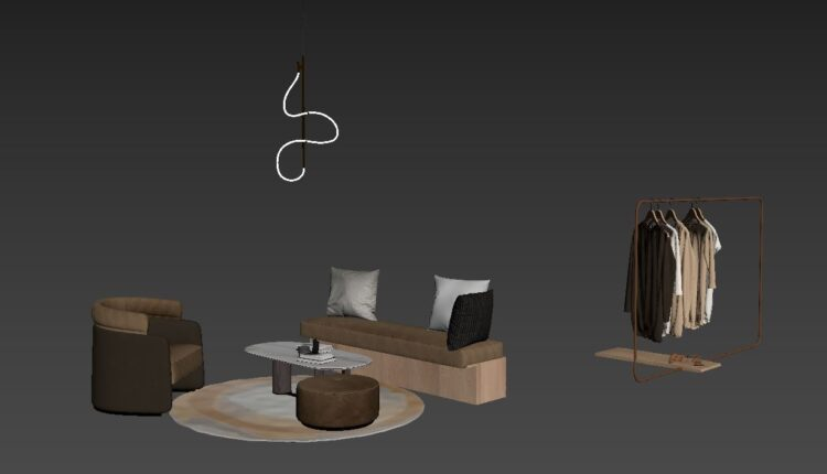 9704. Free 3D Set Table- Chair and Clothes Model Download by nam Do (5)
